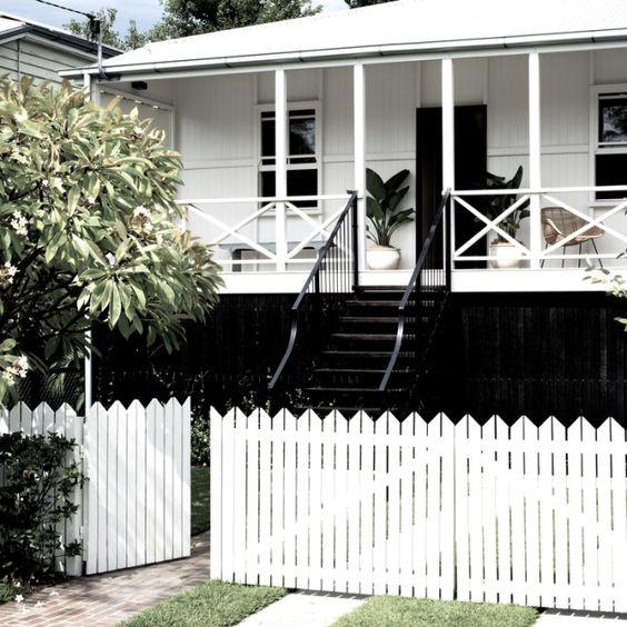 black and white durham house