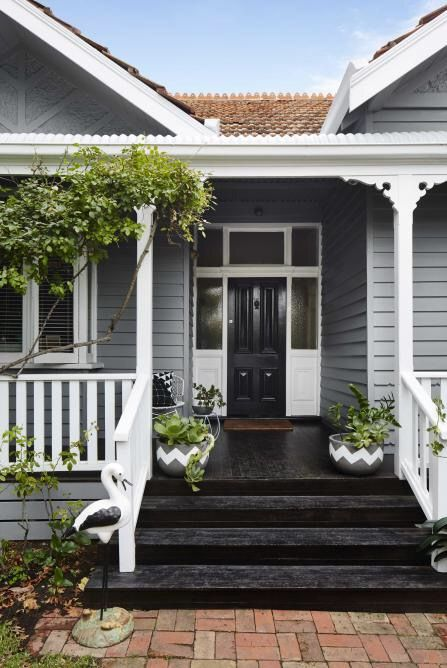 black stained verandah