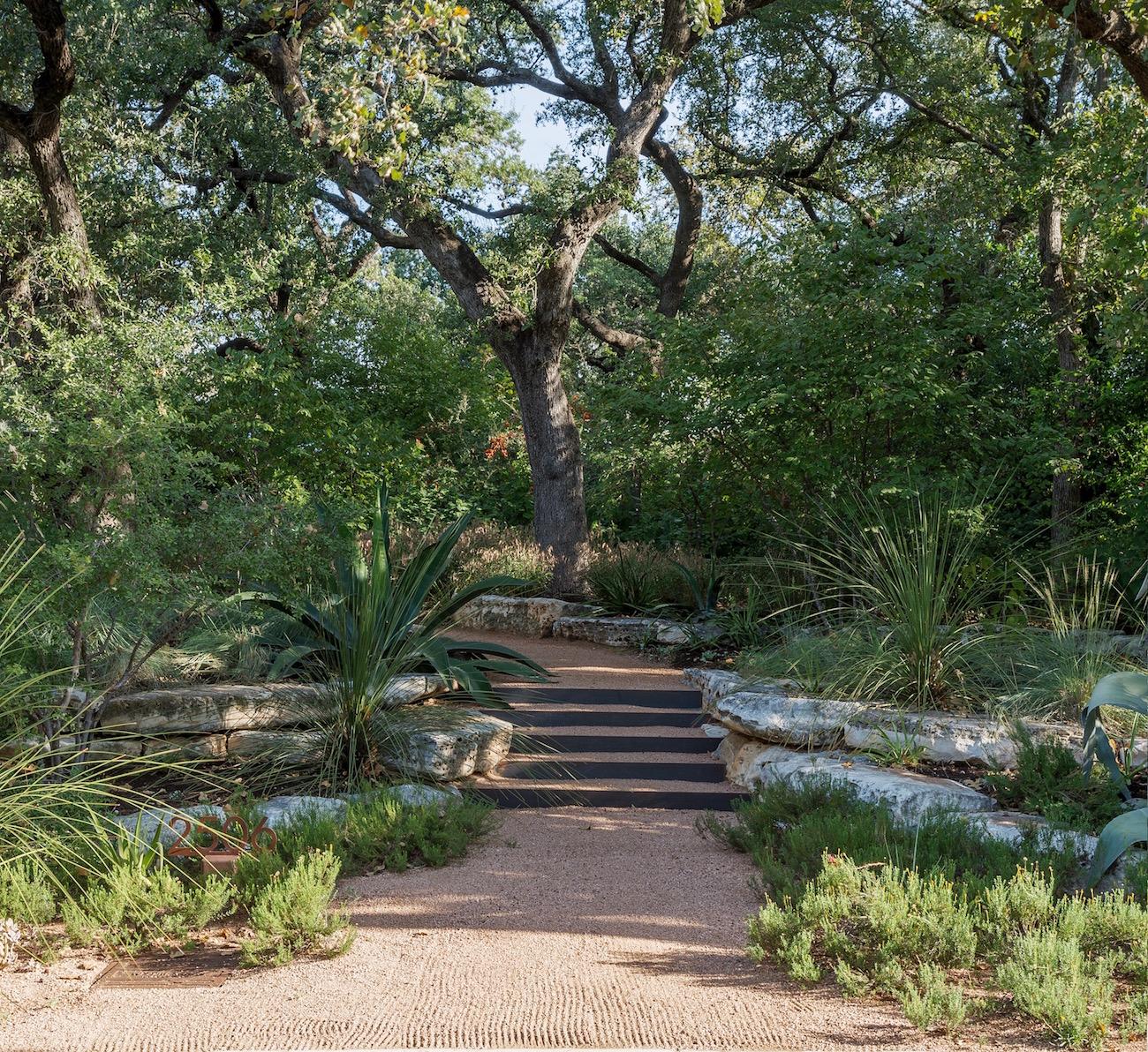 boulders terraced garden
