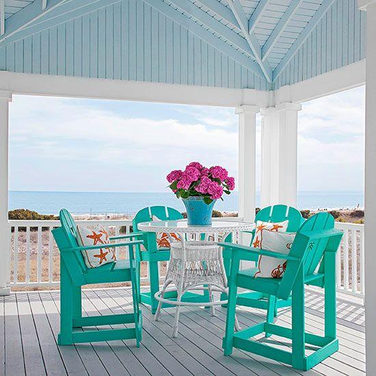 colourful furniture verandah ideas