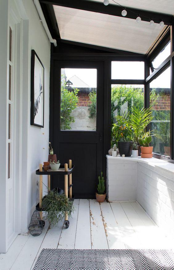 enclosed verandah ideas - potting shed