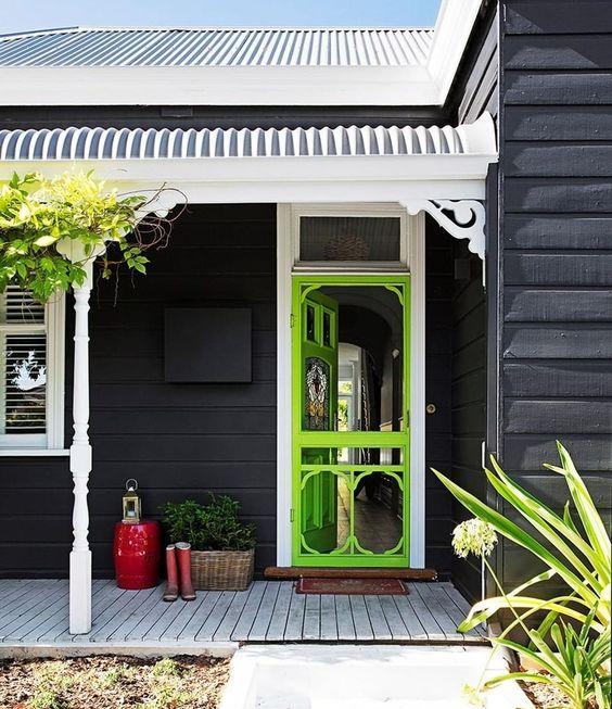 front door colour pops verandah ideas