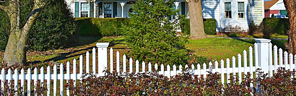 white front fence