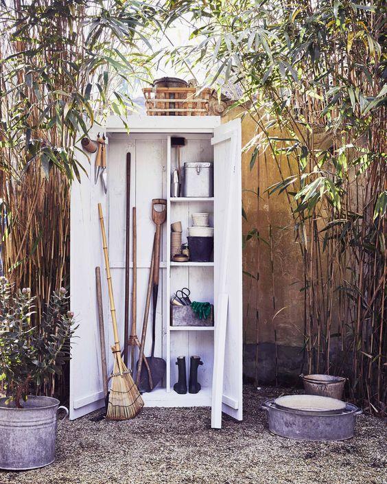 garden storage side of house ideas