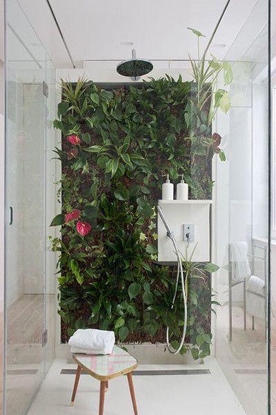 living shower wall