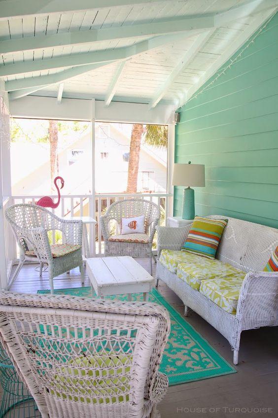 mint green verandah