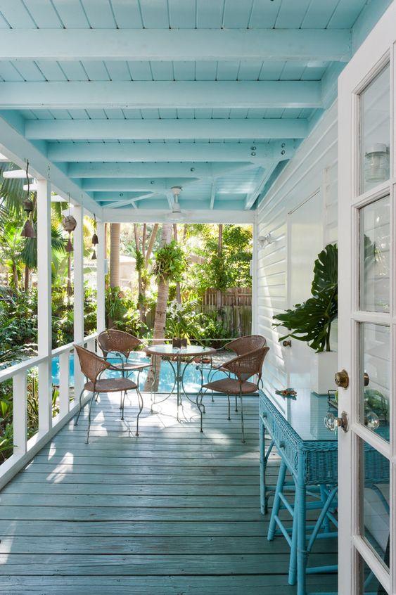 pale blue roof verandah ideas