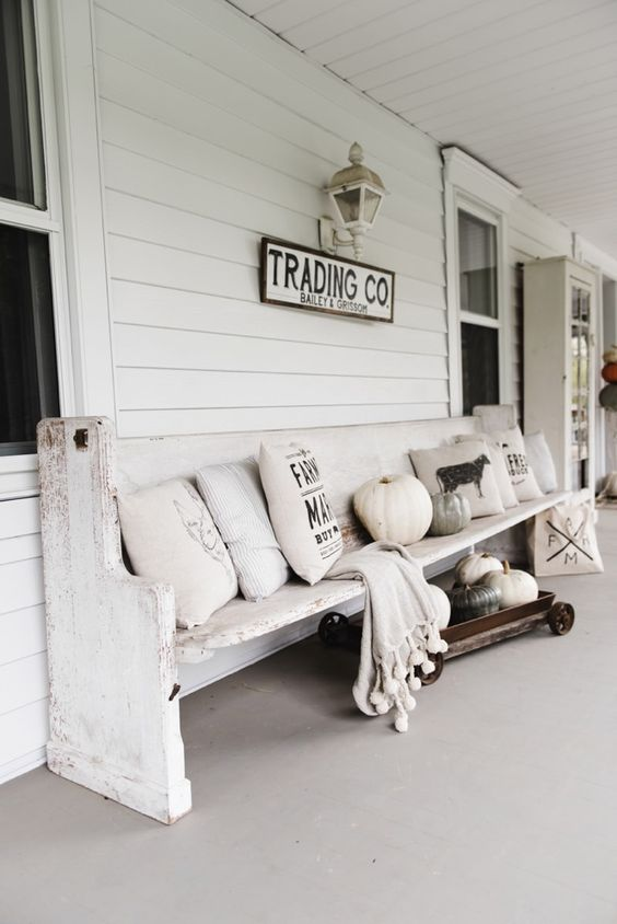 rustic with church pew