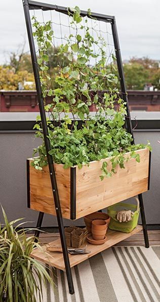 simple vertical planter