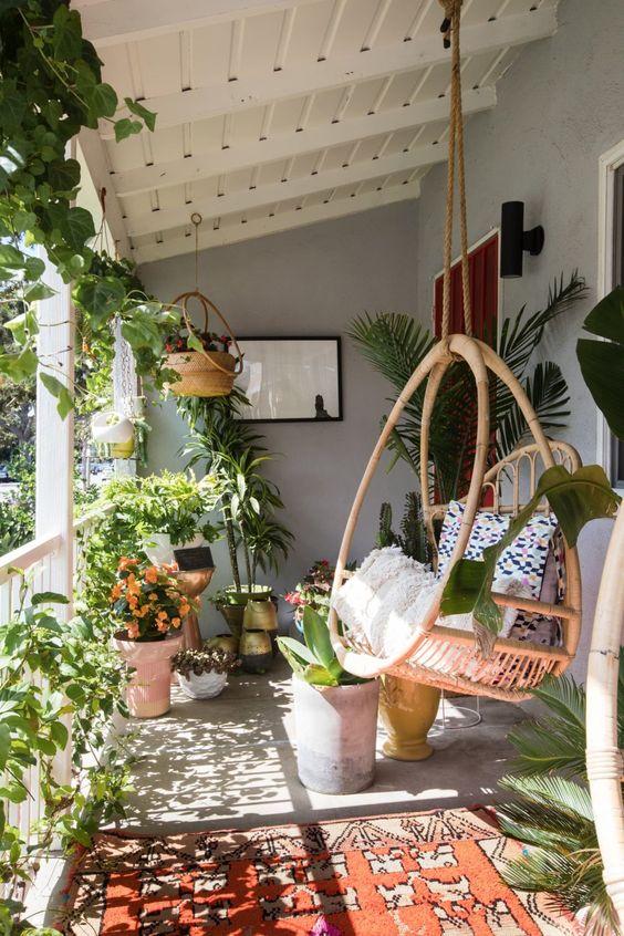 swing chair on small verandah ideas