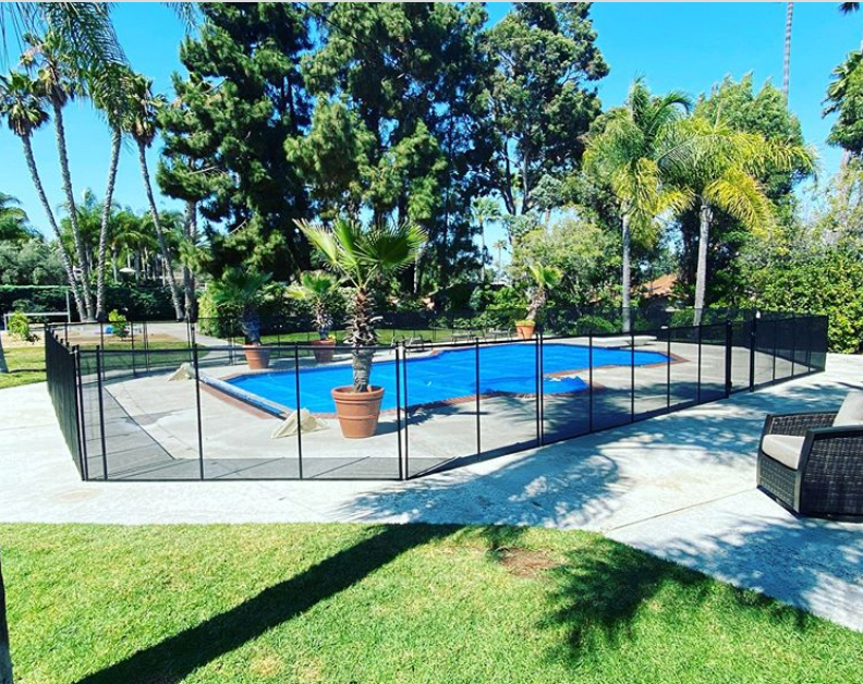 Black pool fencing