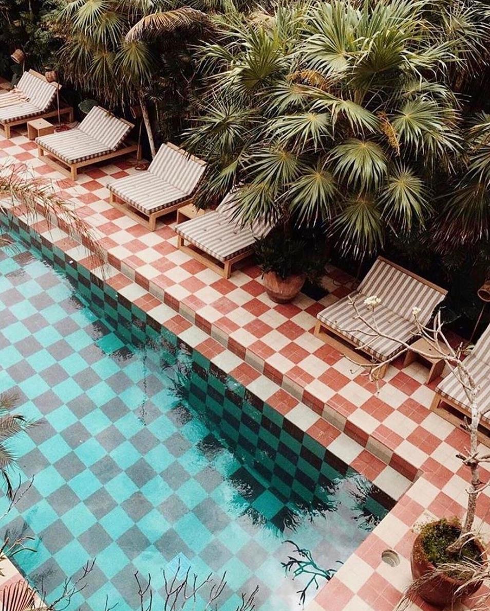 Pool tiling ideas
