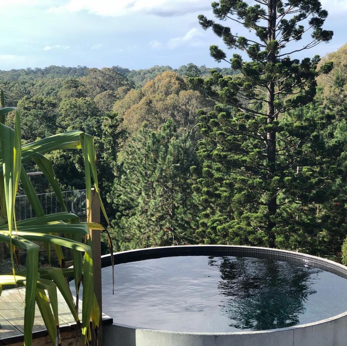 Small concrete plunge pool