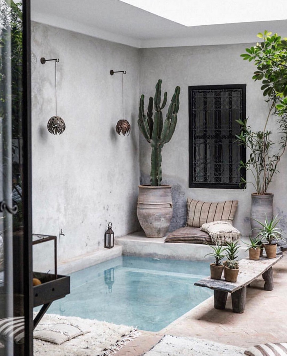 Small pool in a courtyard