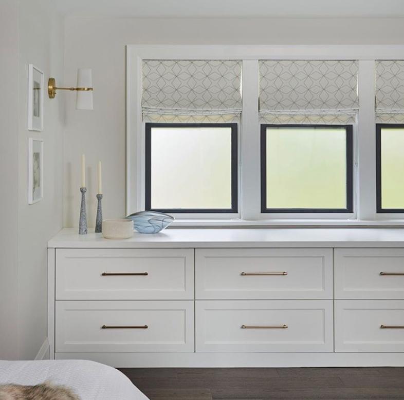 Under bedroom window storage