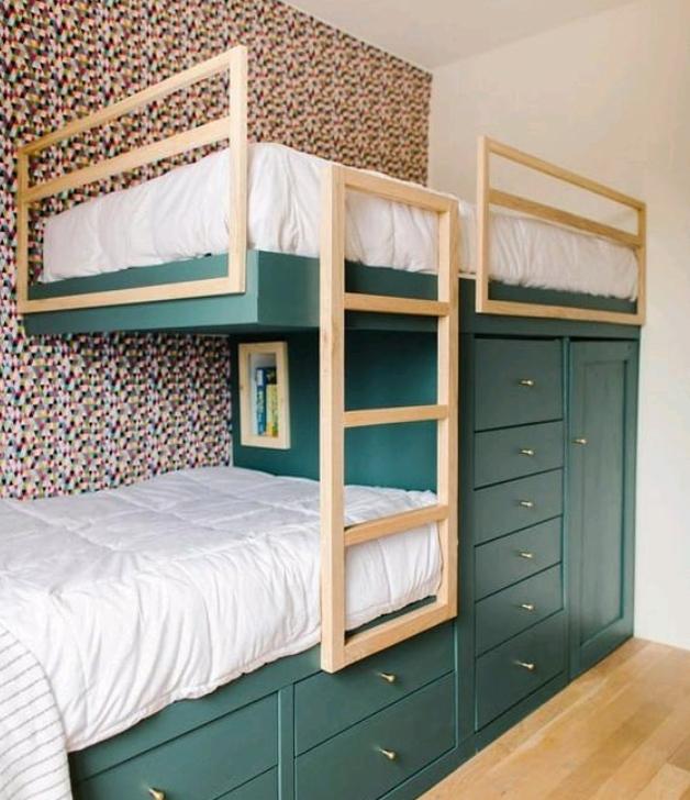 custom bunk bed storage