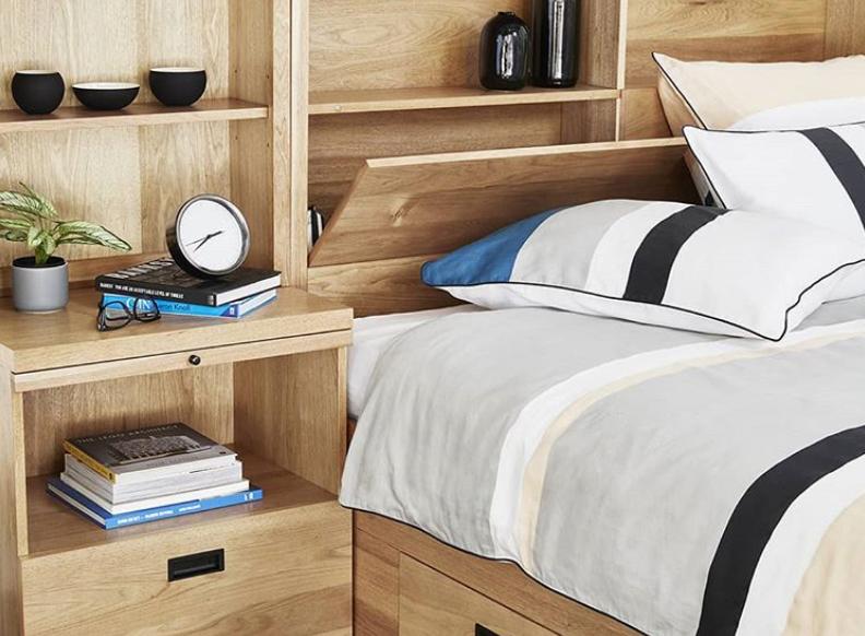 In built bed storage