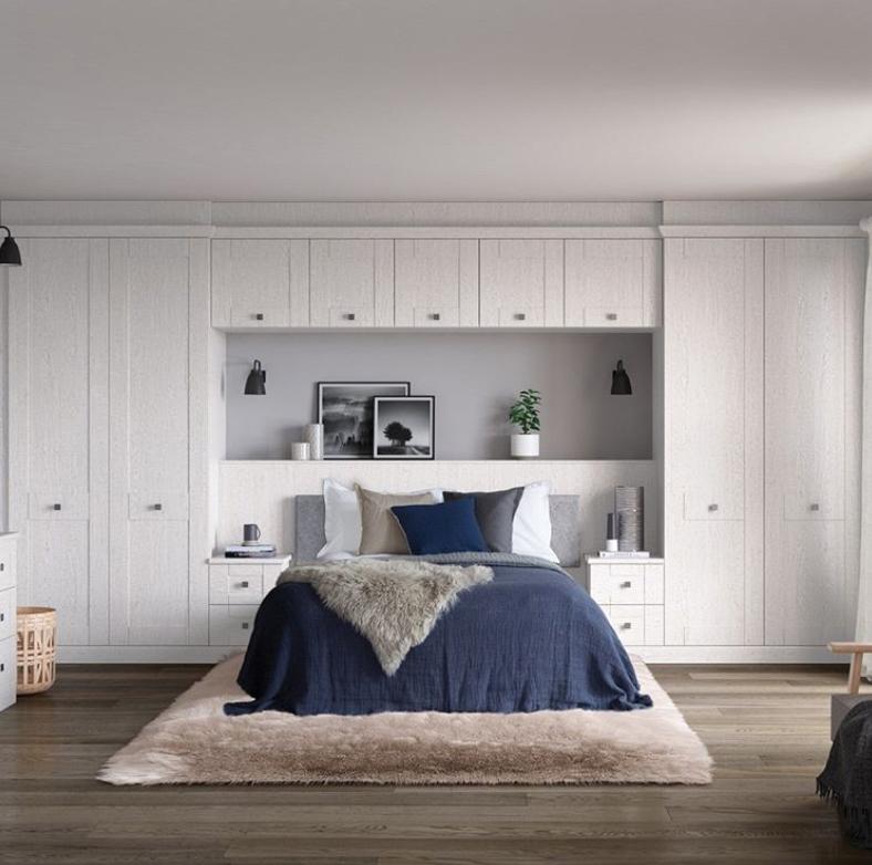 Bedroom storage wall
