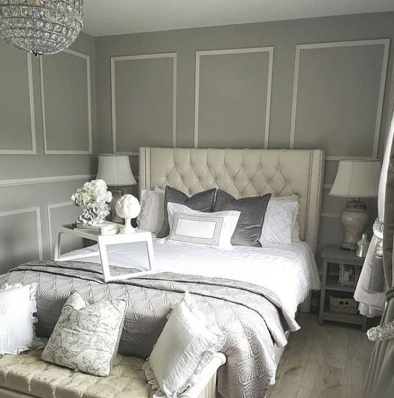 Bedroom wall panelling