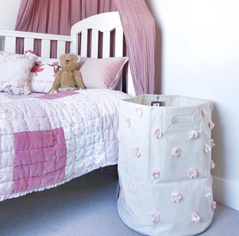 Bedroom basket storage