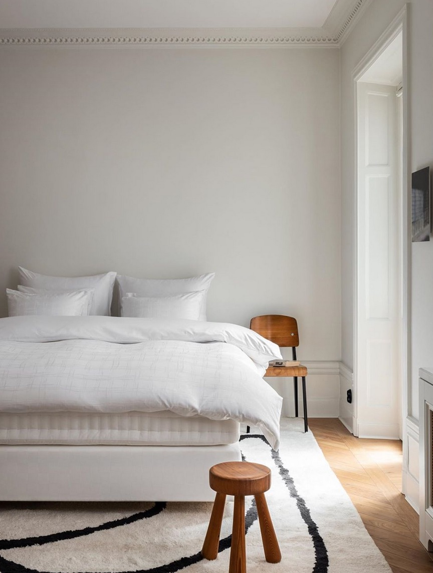 French inspired white bedroom