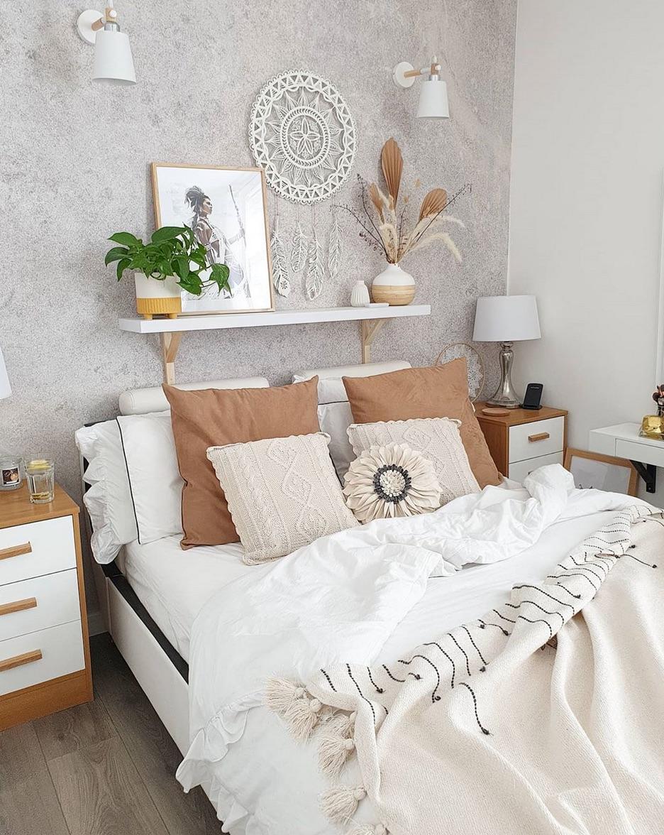 Neutral scandi bedroom