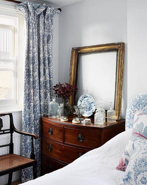 vintage bedroom curtains