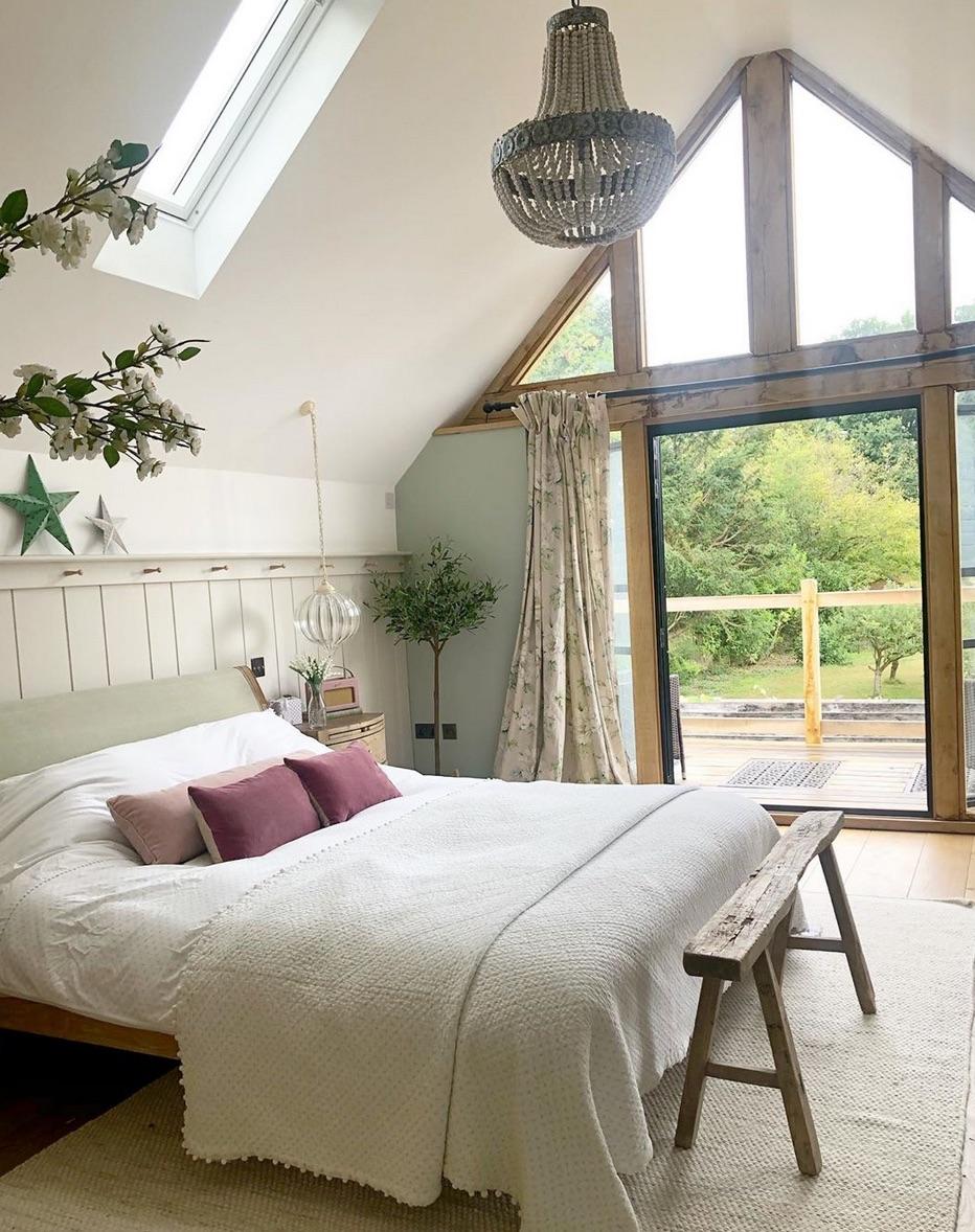 Rustic bedroom curtains