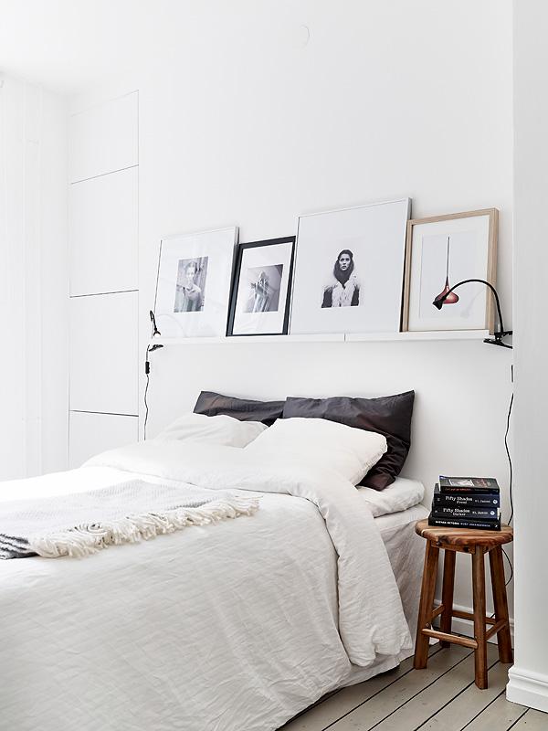 Minimalist black and white bedroom