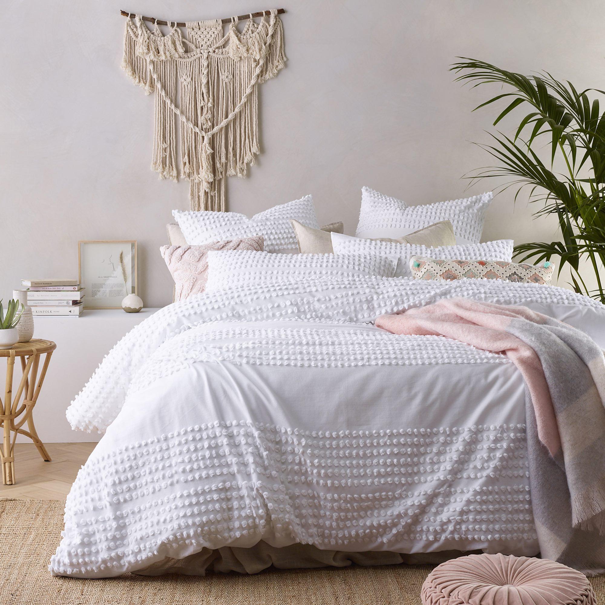Macrame boho bedroom art