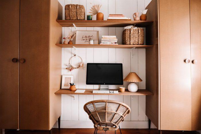 boho-bedroom-desk-wardrobe-storage