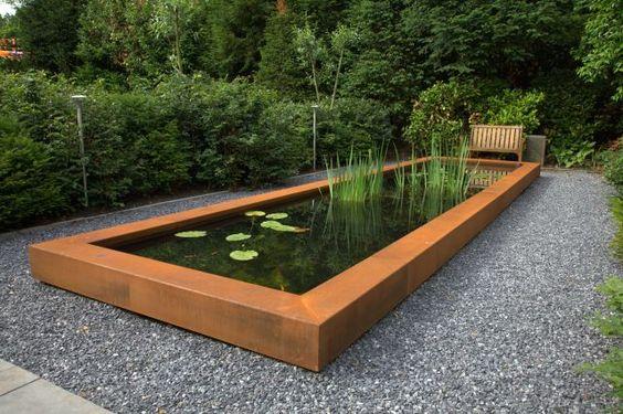 corten steel pond