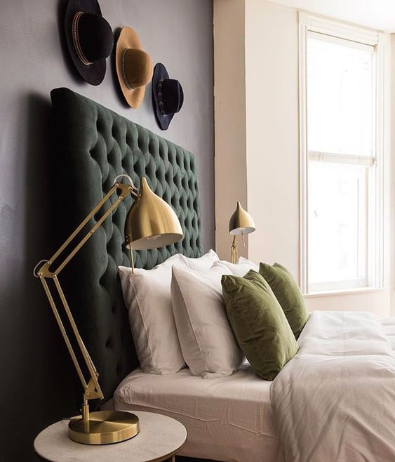 green and gold tones