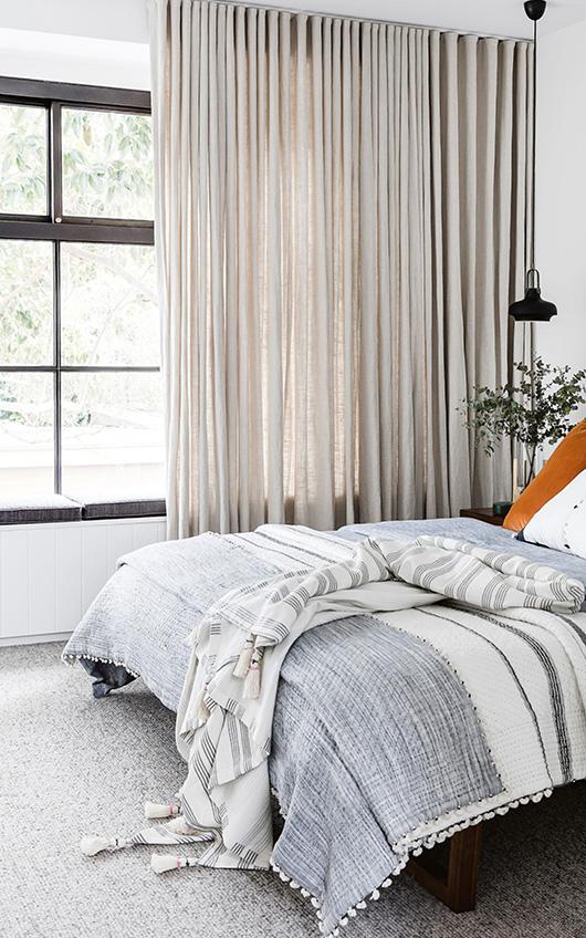 oatmeal colour bedroom curtains
