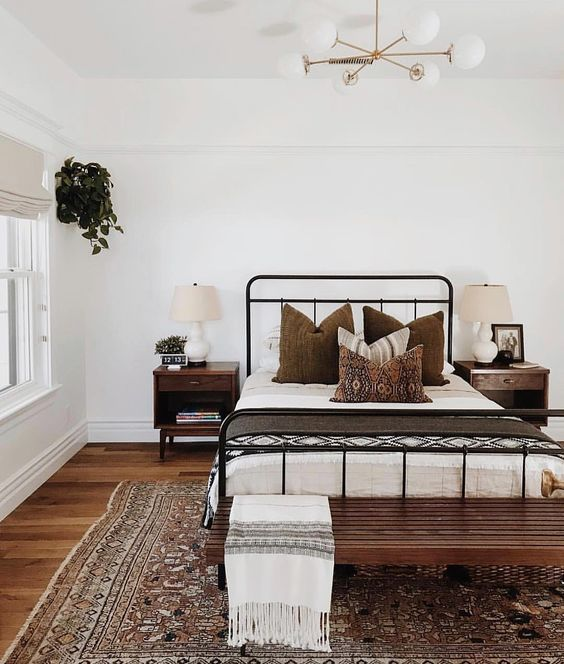 natural palette of farmhouse bedroom