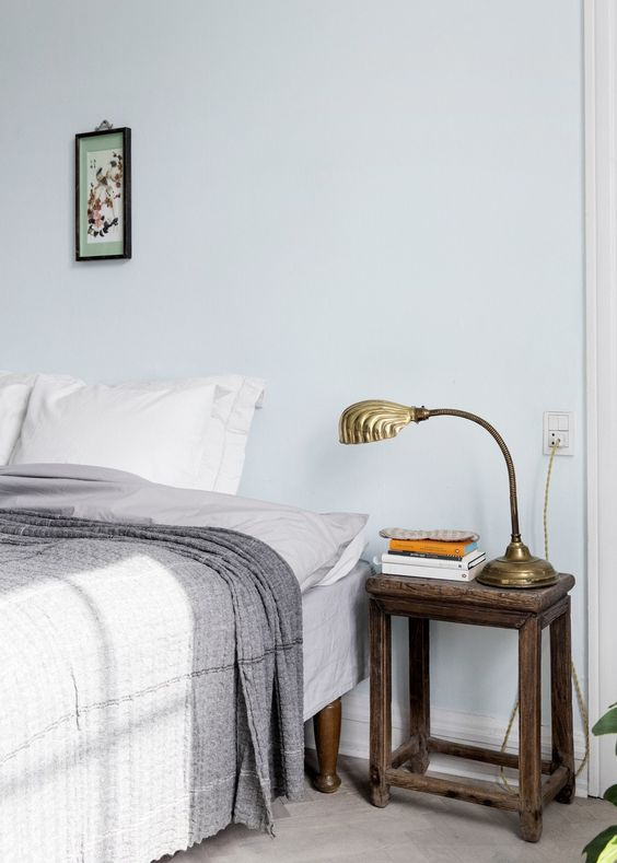 pale blue timber accents