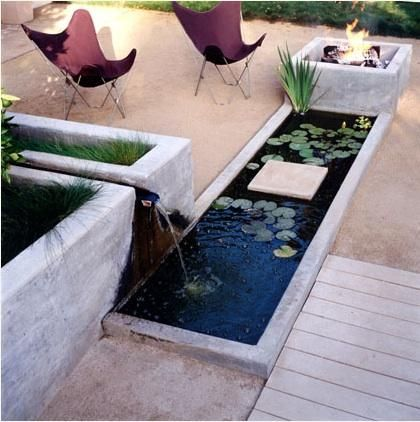 pond and firepit