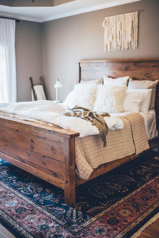 rugs in farmhouse bedroom
