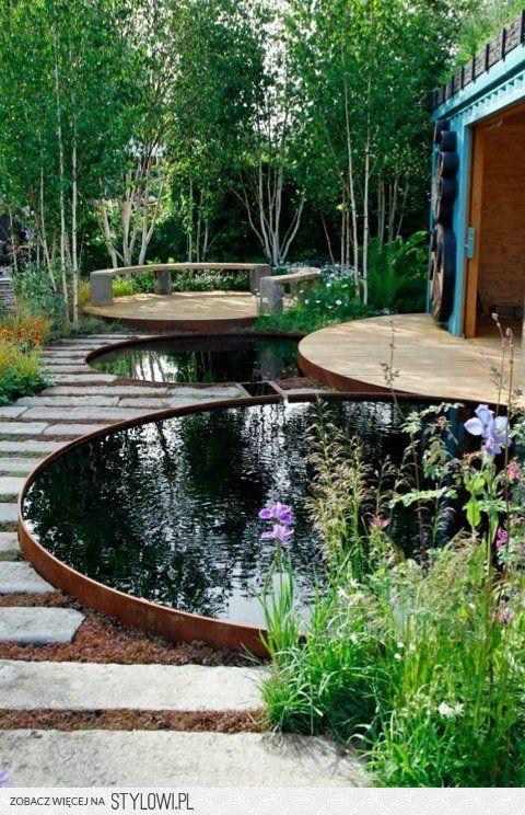 several backyard pools