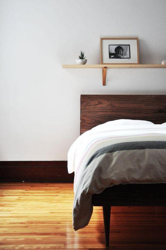 walnut farmhouse bedroom