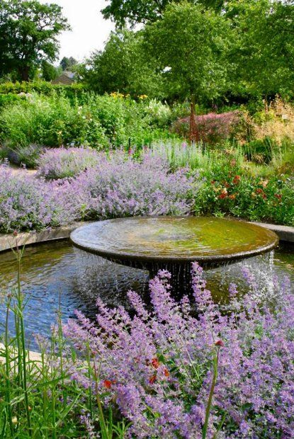 waterfall feature in pond