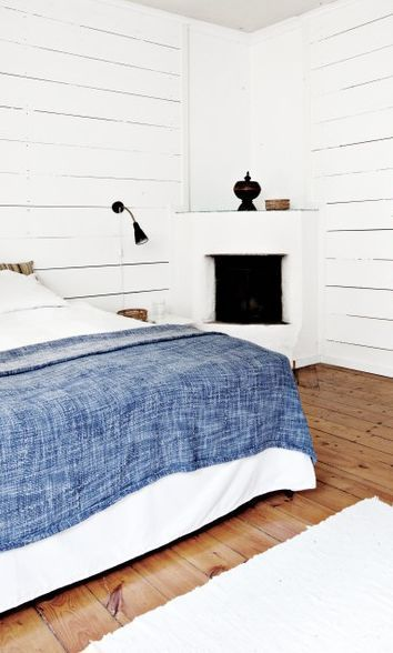white fireplace and denim
