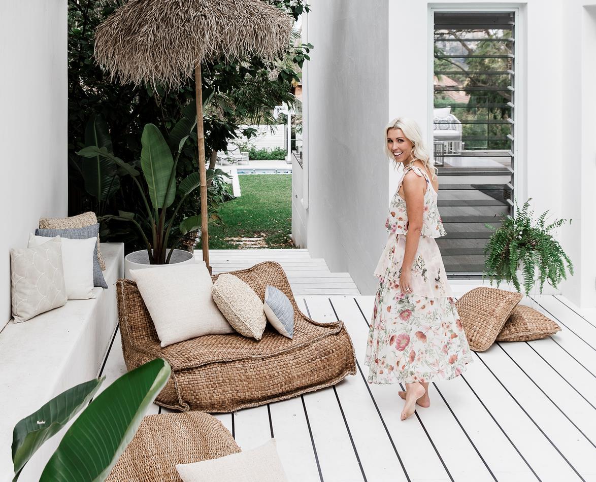 whitewashed pool deck ideas