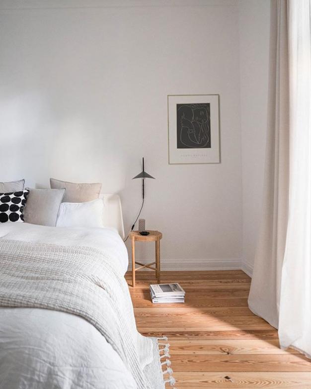 Scandinavian bedroom with simple decor