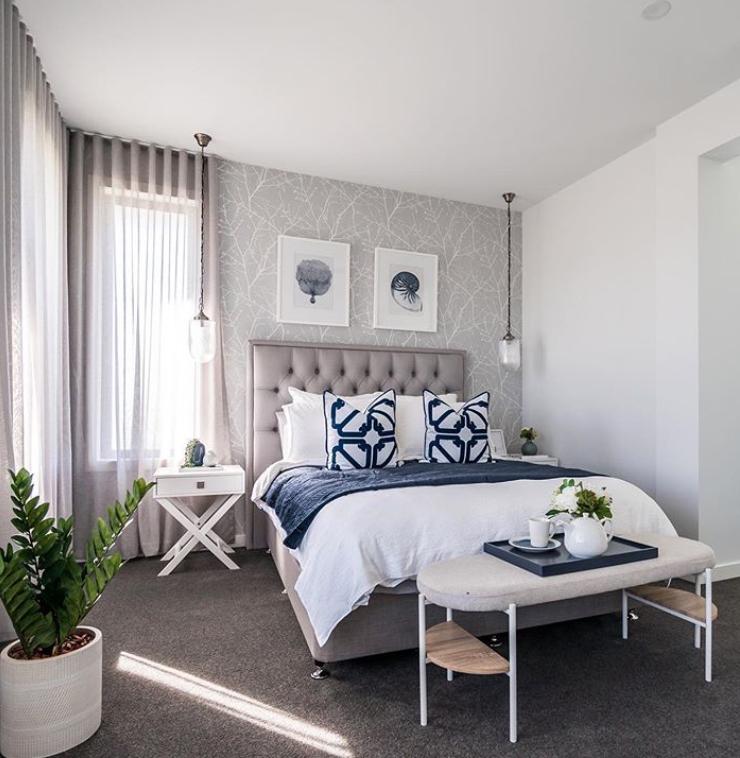 Modern neutral Hamptons style bedroom