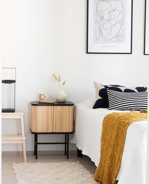 using textures and patterns in bedroom styling