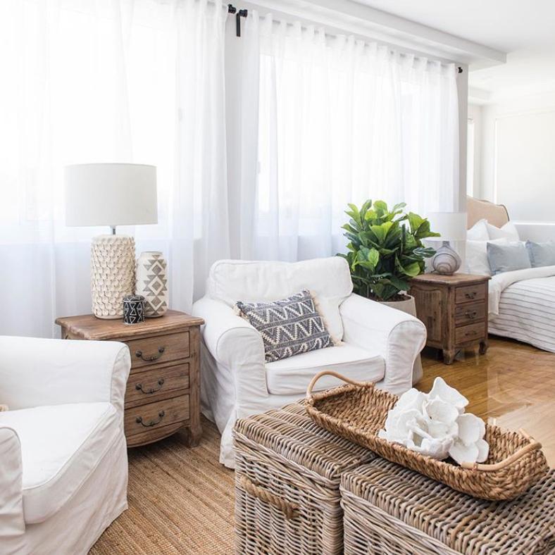 Hampton's style master suite
