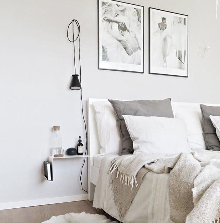 Grey Scandi bedroom