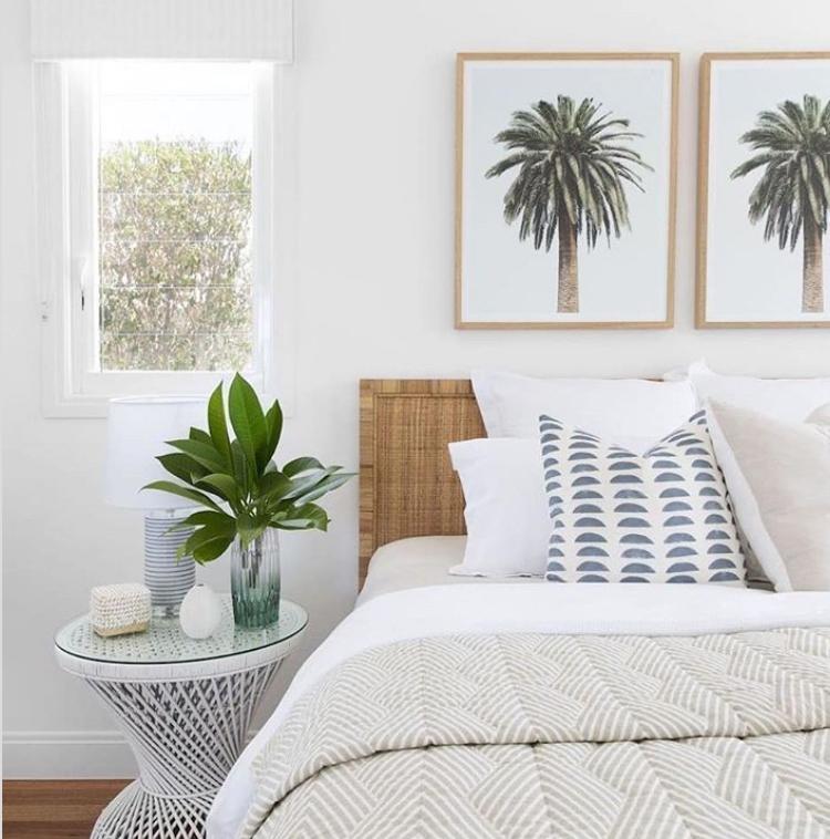 Boho hamptons bedroom style