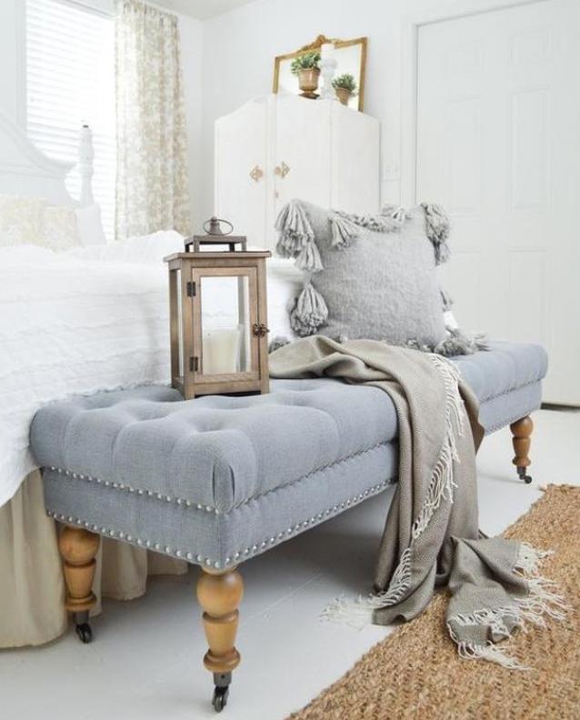Hamptons style ottoman